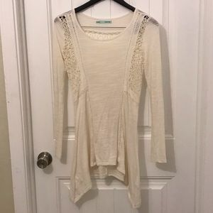 Maurices long sleeve top cream color size Small
